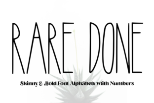 Print on Demand: Rare Done Script & Handwritten Font By Unicorn Creative