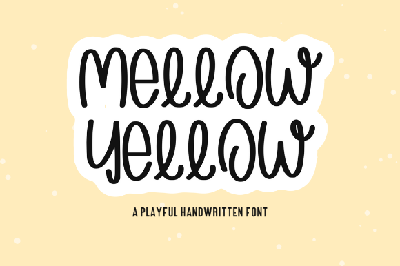 Print on Demand: Mellow Yellow Script & Handwritten Font By Sage Makers - Image 1