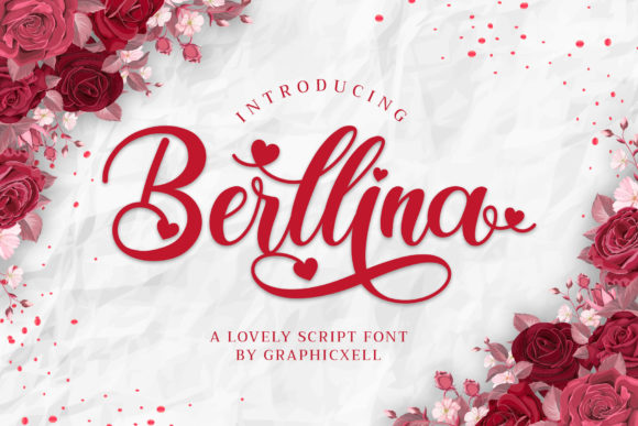 Print on Demand: Berllina Script & Handwritten Font By Graphicxell