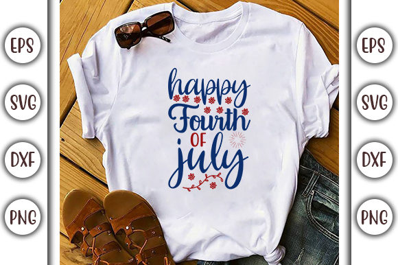 Print on Demand: 4th of July Design, Happy Fourth of July Graphic Print Templates By GraphicsBooth