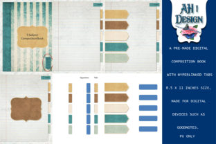 5 Subject Digital Composition Journal Graphic Graphic Templates By AHDesign