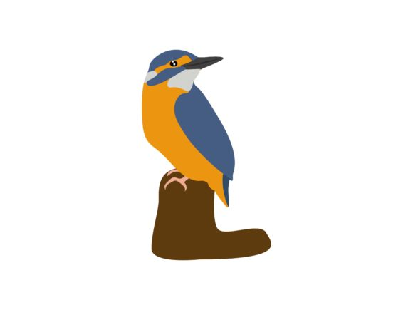 Download Free Alcedinidae Standing Bird Animal Graphic By Archshape Creative for Cricut Explore, Silhouette and other cutting machines.