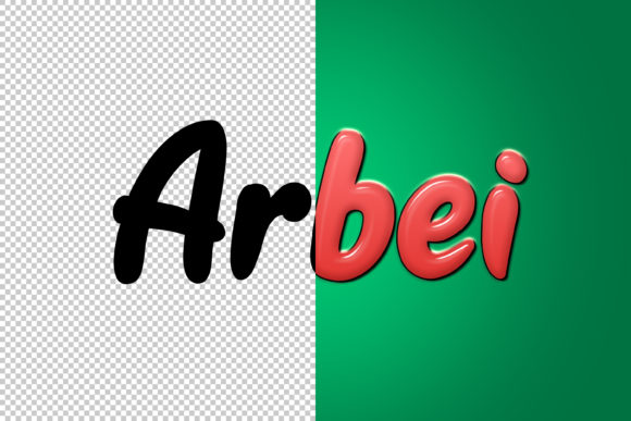 Download Free Arbei 3d Text Style Effect Graphic By Handriwork Creative for Cricut Explore, Silhouette and other cutting machines.