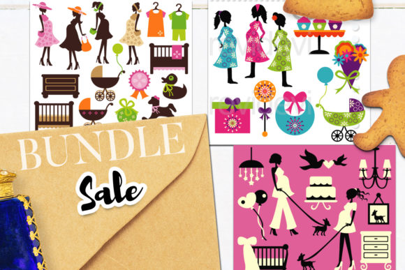 Print on Demand: Baby Shower Bundle Graphic Illustrations By Revidevi