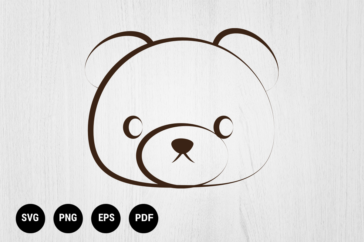 Download Free Bear Design Vector Graphic By 99 Siam Vector Creative Fabrica for Cricut Explore, Silhouette and other cutting machines.