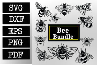 Download Free Bee Bumblebee Bundle Graphic By Johanruartist Creative Fabrica for Cricut Explore, Silhouette and other cutting machines.