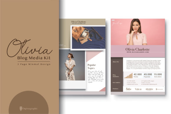 Blog Media Kit Template - 3 Page Graphic Print Templates By OtpirusThree