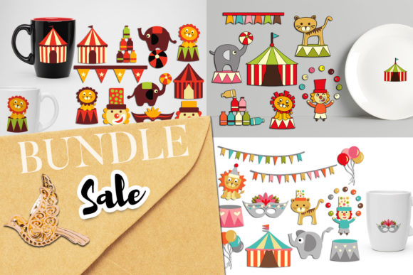 Print on Demand: Circus Clip Art Bundle Graphic Illustrations By Revidevi