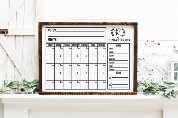 Print on Demand: Customizable Family Calendar Graphic Crafts By Simply Cut Co