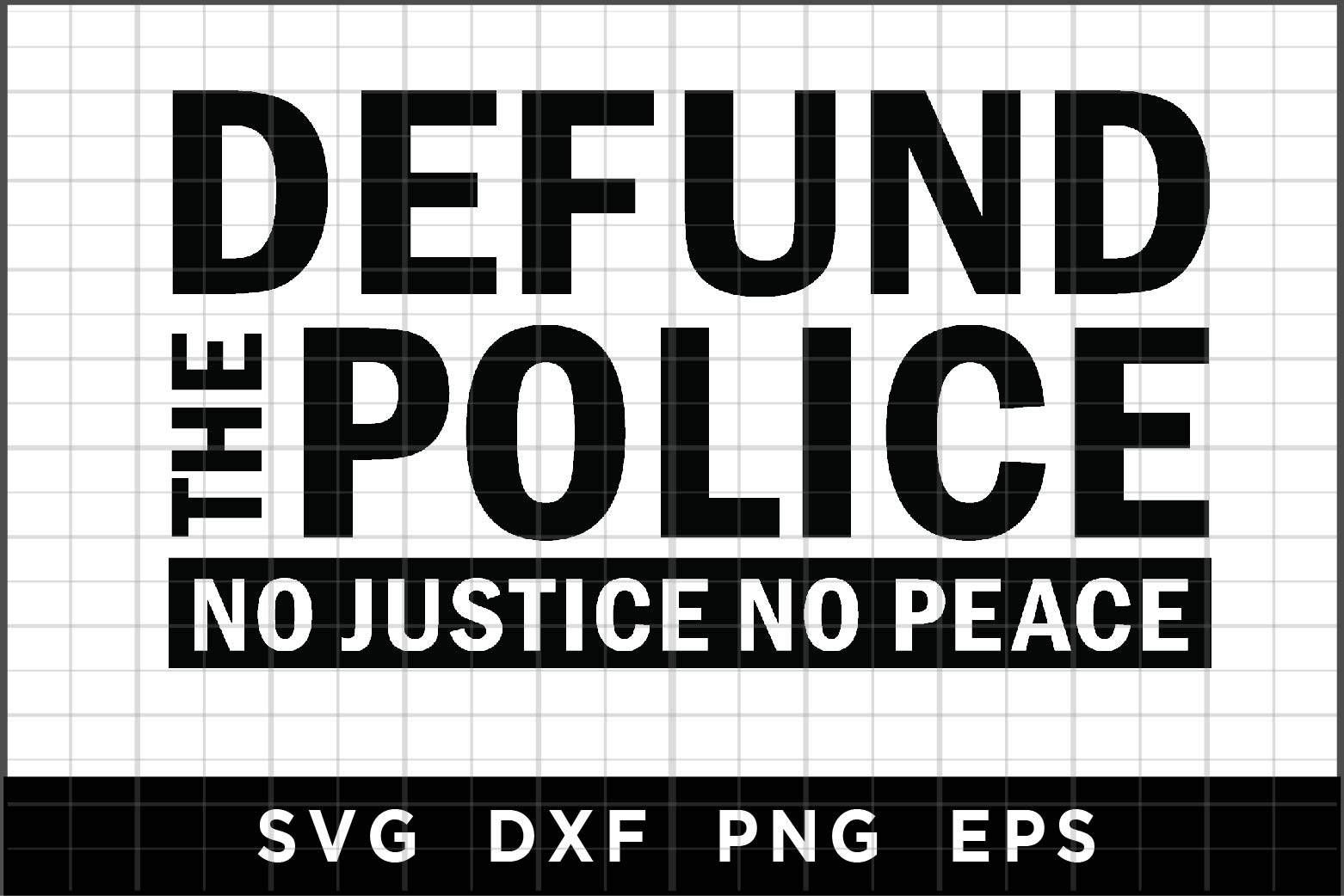 Download Free Defund The Police Graphic By Spoonyprint Creative Fabrica for Cricut Explore, Silhouette and other cutting machines.