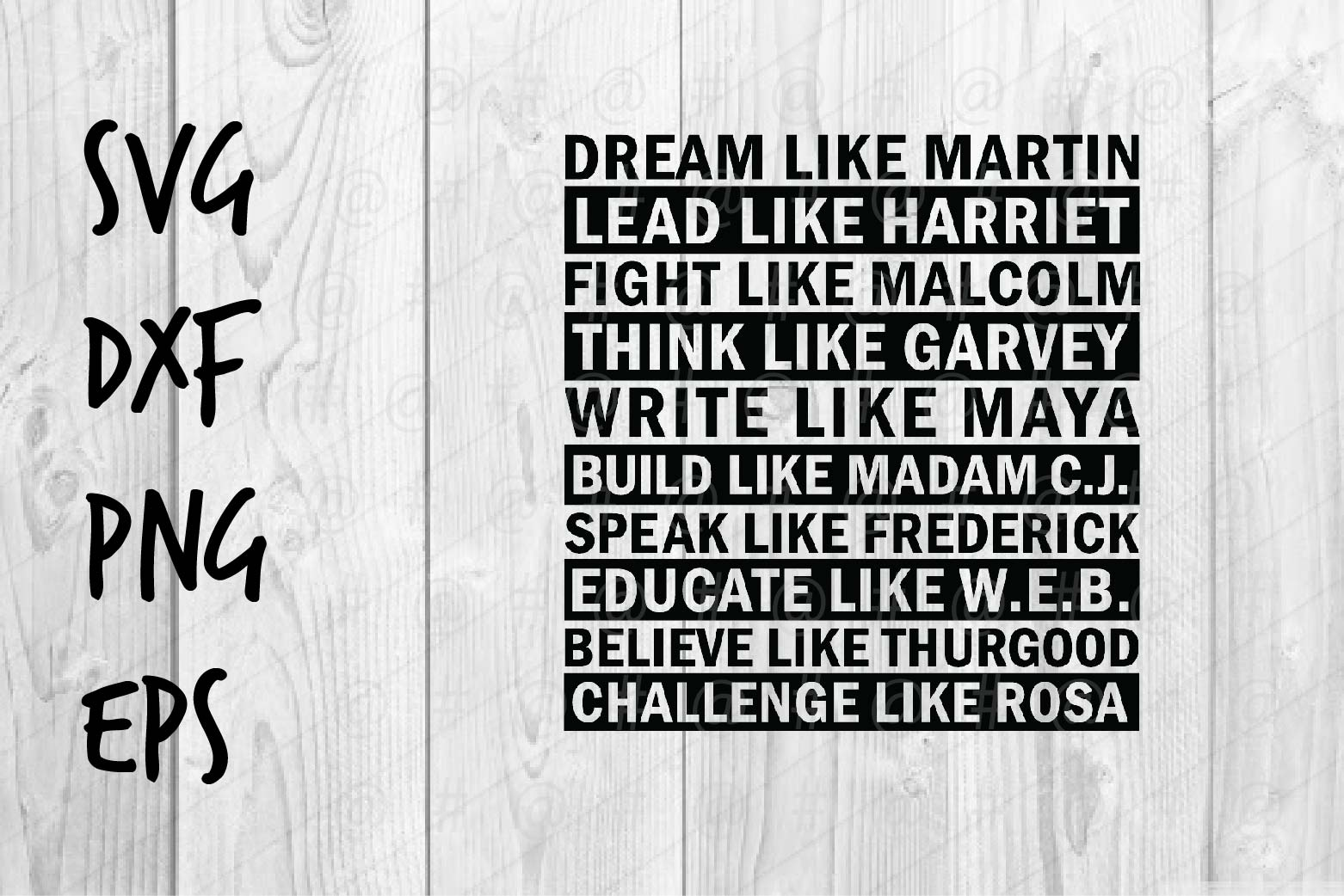 Download Free Dream Like Martin Quote Graphic By Spoonyprint Creative Fabrica for Cricut Explore, Silhouette and other cutting machines.