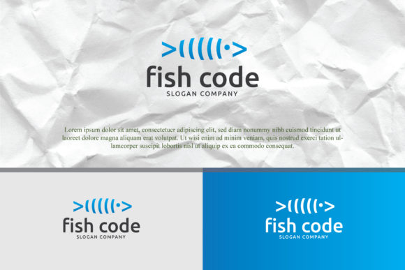Download Free Fish Code Logo Templates Graphic By Home Crafter Design Co for Cricut Explore, Silhouette and other cutting machines.