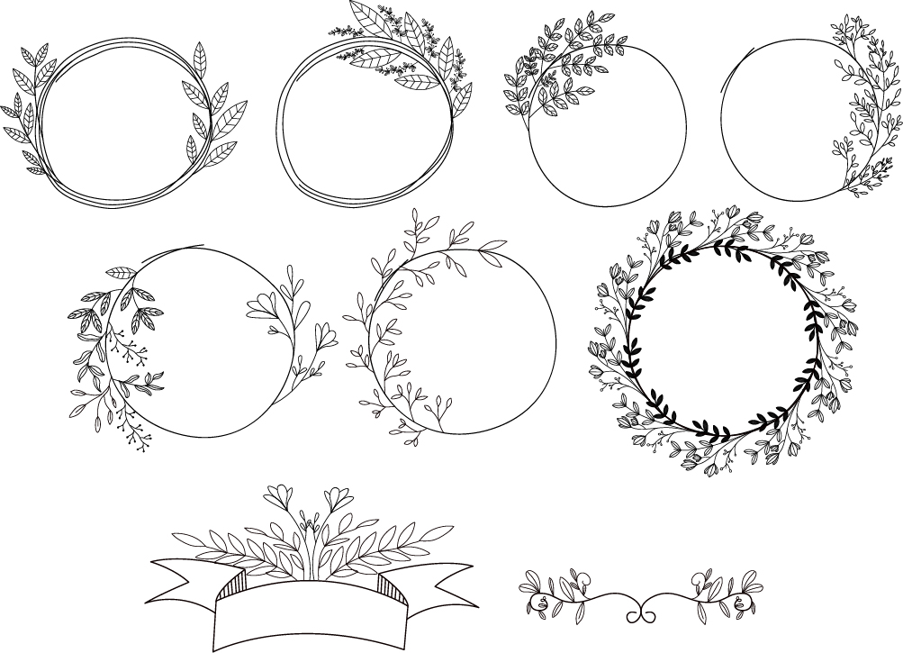 Download Free Floral Bundle Vol 3 Graphic By Nuk130 Studio Creative Fabrica for Cricut Explore, Silhouette and other cutting machines.