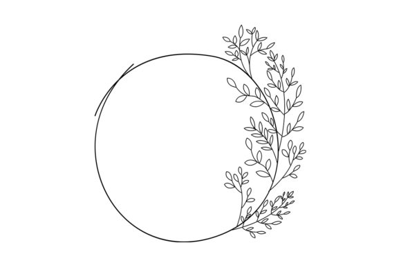 Download Free Floral Round Frame No 4 Graphic By Nuk130 Studio Creative Fabrica for Cricut Explore, Silhouette and other cutting machines.