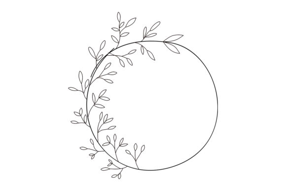Download Free Floral Round Frame No 6 Graphic By Nuk130 Studio Creative Fabrica for Cricut Explore, Silhouette and other cutting machines.