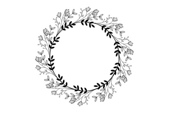 Download Free Floral Round Frame No 7 Graphic By Nuk130 Studio Creative Fabrica for Cricut Explore, Silhouette and other cutting machines.