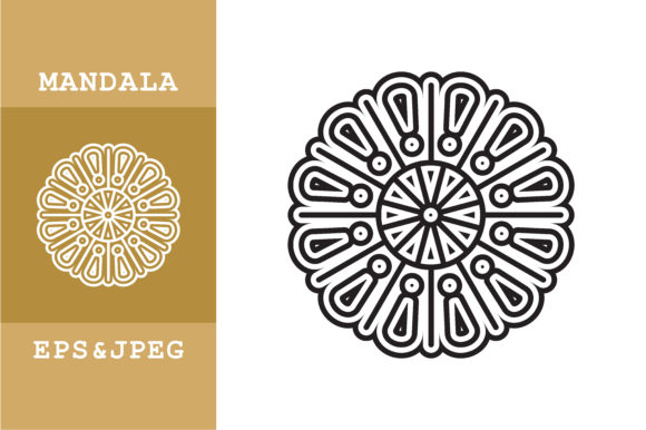 Download Free Geometric Ethnic Mandala Art Graphic By Mbahsinyo Creative Fabrica for Cricut Explore, Silhouette and other cutting machines.