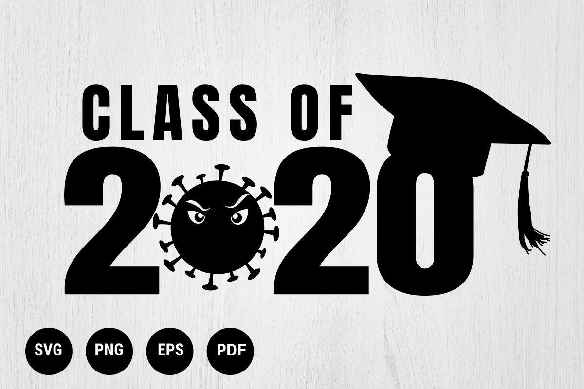 Download Free Graduation Corona Virus Covid 19 Graphic By 99 Siam Vector Creative Fabrica for Cricut Explore, Silhouette and other cutting machines.