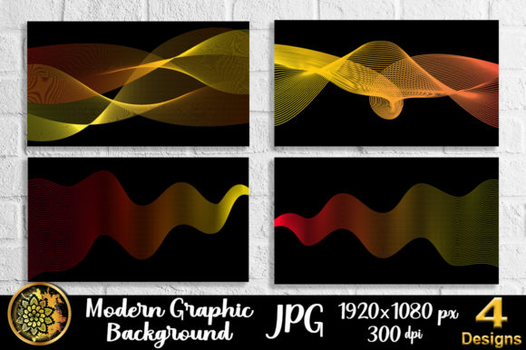 Download Free Graphic Design Wave Lineart Background 4 Graphic By V Design for Cricut Explore, Silhouette and other cutting machines.