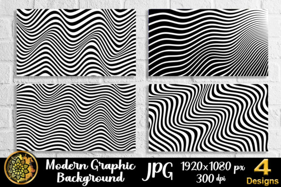 Graphic Design Wave Lineart Background 5 Graphic Backgrounds By V-Design Creator