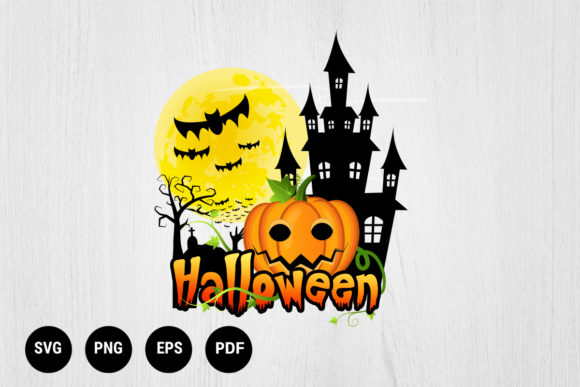 Print on Demand: Halloween Pumpkins Cartoon  Graphic Print Templates By 99 Siam Vector