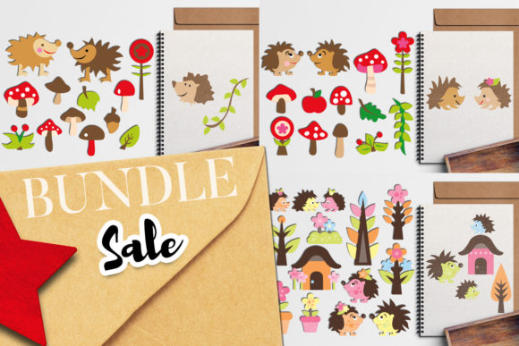 Print on Demand: Hedgehog Clip Art Bundle Graphic Illustrations By Revidevi