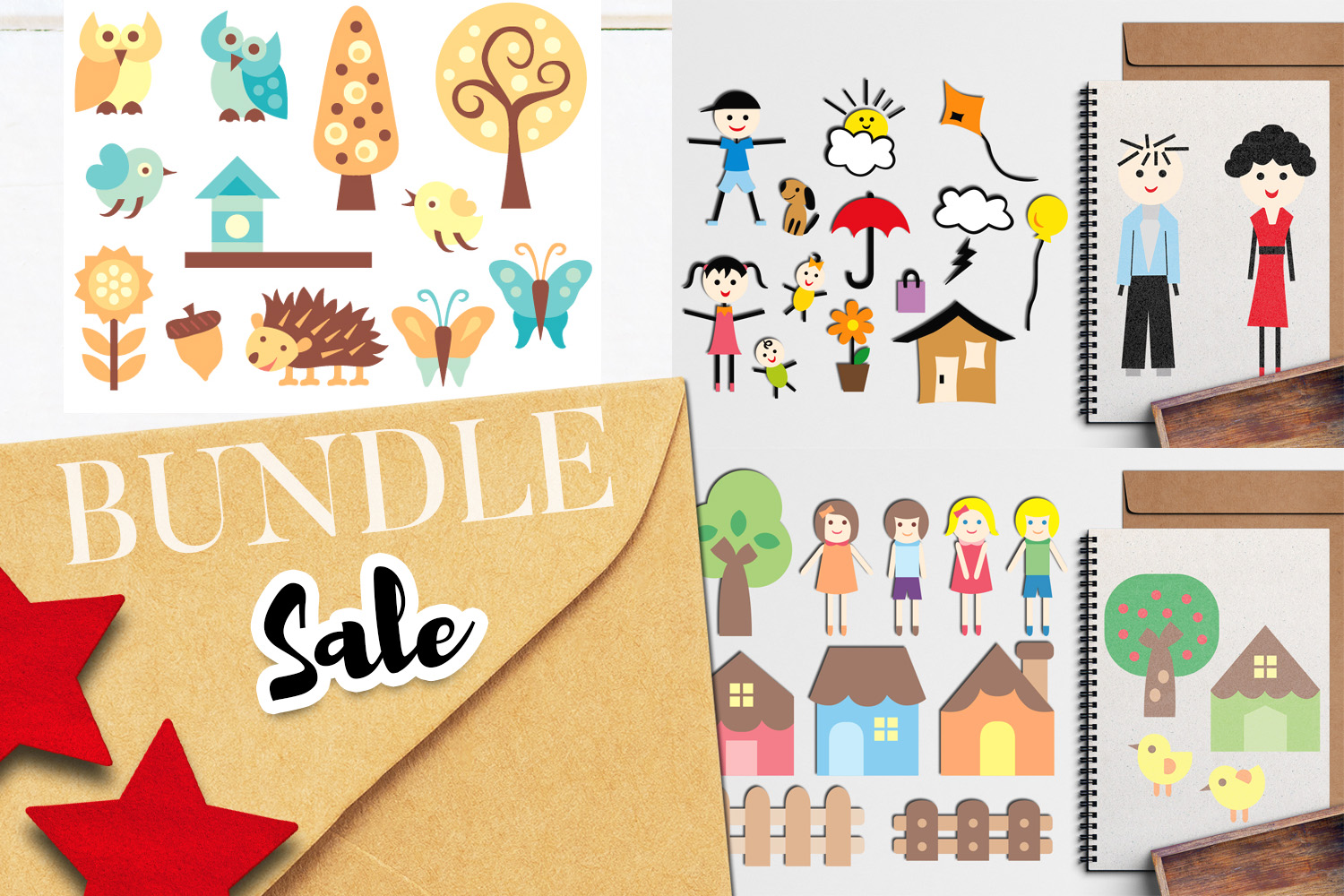 Download Free House And Family Bundle Graphic By Revidevi Creative Fabrica for Cricut Explore, Silhouette and other cutting machines.