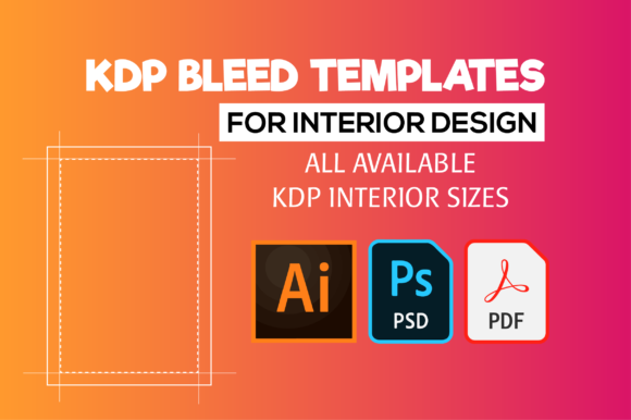 KDP Bleed Templates for Interior Design Grafik KPD Innenseiten von MK DESIGNS