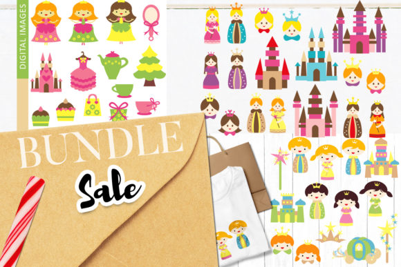 Print on Demand: King Queen Kingdom Bundle Graphic Illustrations By Revidevi