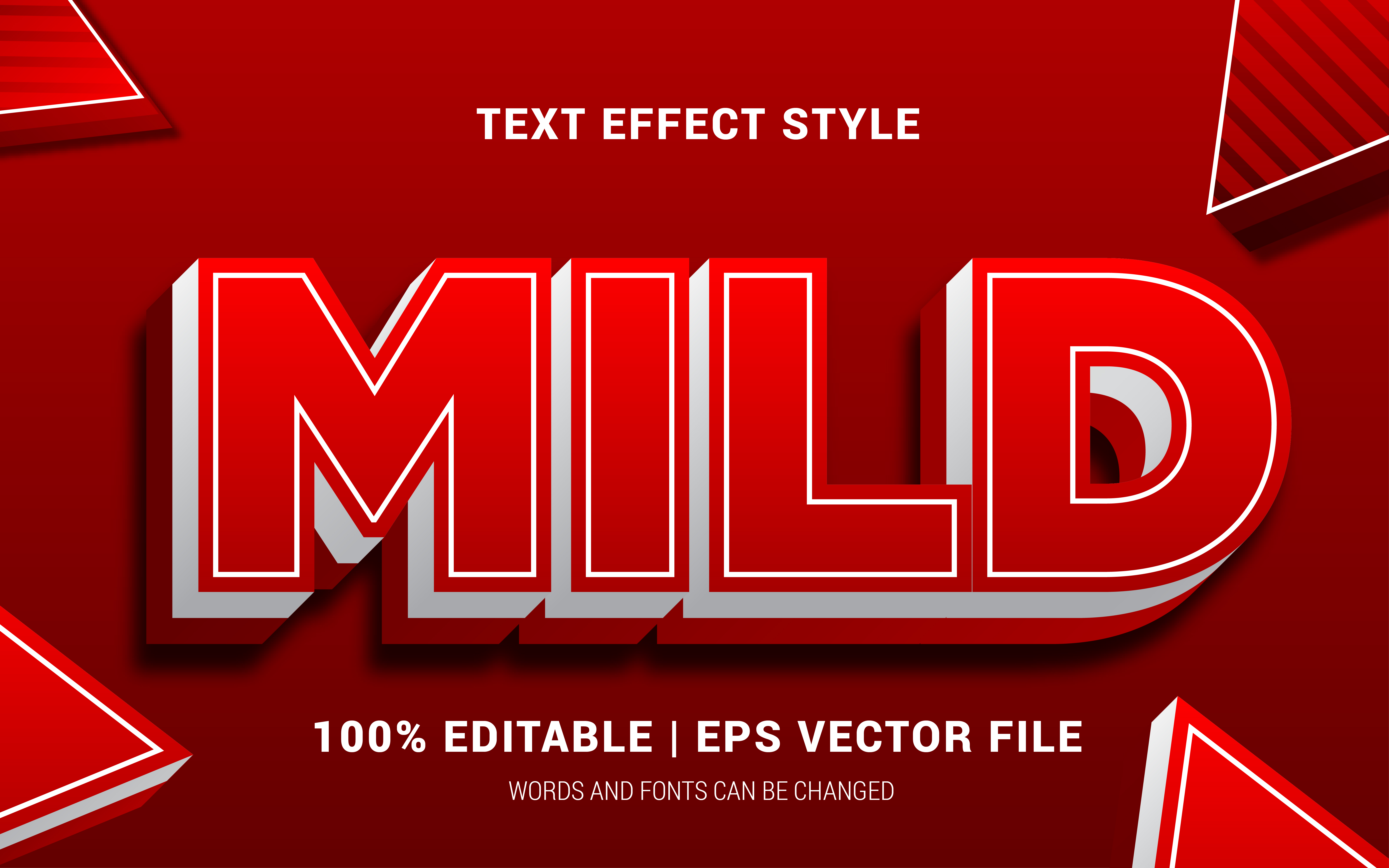 Download Free Mild Text Effects Style Graphic By Neyansterdam17 Creative Fabrica for Cricut Explore, Silhouette and other cutting machines.