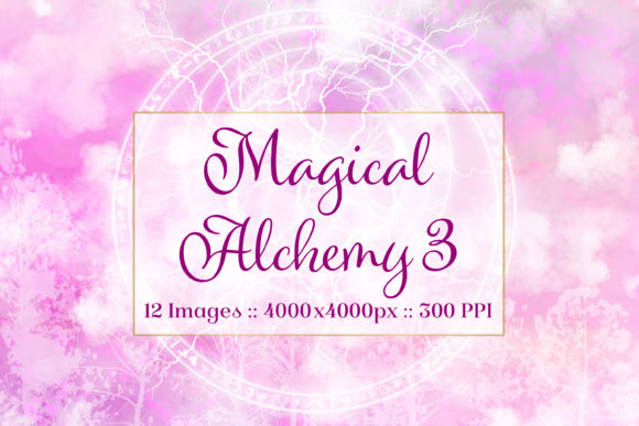 Print on Demand: Magical Alchemy 3 - 12 Background Images Graphic Backgrounds By SapphireXDesigns