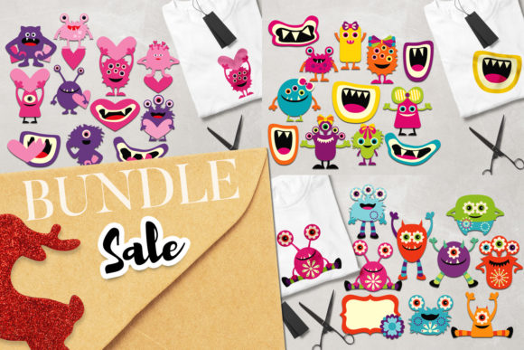 Print on Demand: Monsters Bundle Graphic Illustrations By Revidevi