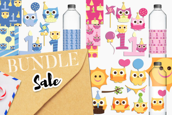 Download Free Owl First Birthday Bundle Graphic By Revidevi Creative Fabrica for Cricut Explore, Silhouette and other cutting machines.