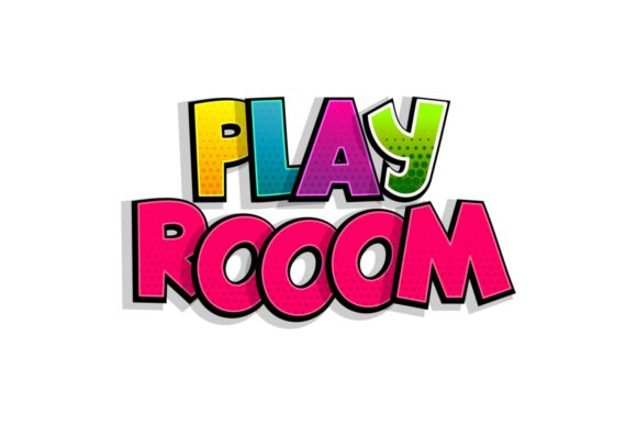 Play Room Comic Book Text Badge Graphic Illustrations By Kapitosh