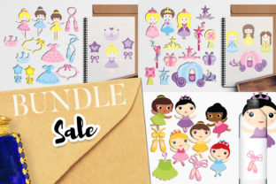 Print on Demand: Princess Ballerina Bundle Graphic Illustrations By Revidevi