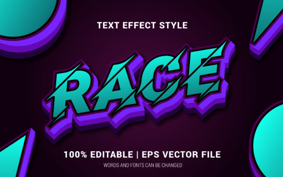 Download Free Race Text Effects Style Graphic By Neyansterdam17 Creative Fabrica for Cricut Explore, Silhouette and other cutting machines.