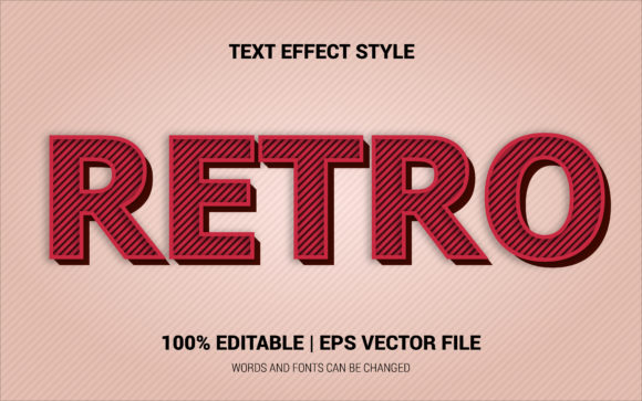 Download Free Retro Text Effects Style Graphic By Neyansterdam17 Creative for Cricut Explore, Silhouette and other cutting machines.