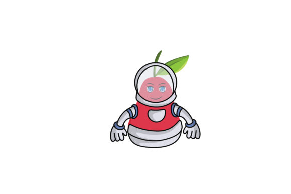 Download Free Rose Apple Fruit Cartoon Astronaut Graphic By Printablesplazza for Cricut Explore, Silhouette and other cutting machines.