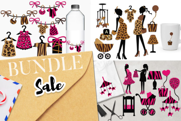 Print on Demand: Safari Baby Shower Bundle Graphic Illustrations By Revidevi
