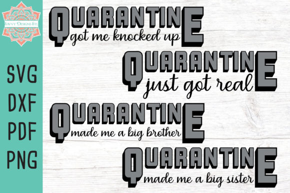 The Quarantine Baby Cut File Bundle Graphic Crafts By savvydesignsstl
