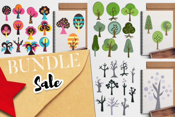 Print on Demand: Tree Bundle Graphic Illustrations By Revidevi