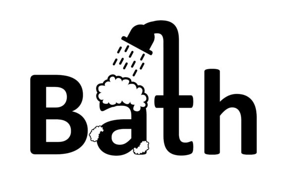 Download Free Typhograhpy Bath Graphic By Arief Sapta Adjie Creative Fabrica for Cricut Explore, Silhouette and other cutting machines.