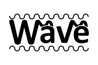 Download Free Typhograhpy Wave Graphic By Arief Sapta Adjie Creative Fabrica for Cricut Explore, Silhouette and other cutting machines.