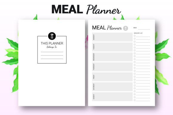 Print on Demand: Weekly Meal Planner - KDP Interior Graphic KDP Interiors By KDP Ninja - Image 2