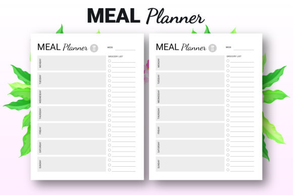 Print on Demand: Weekly Meal Planner - KDP Interior Graphic KDP Interiors By KDP Ninja - Image 3