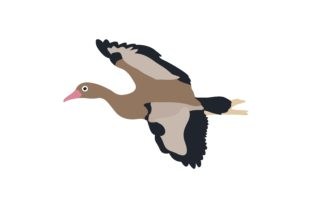 Download Free Duck Hunt Flaying Animal Graphic By Archshape Creative Fabrica for Cricut Explore, Silhouette and other cutting machines.