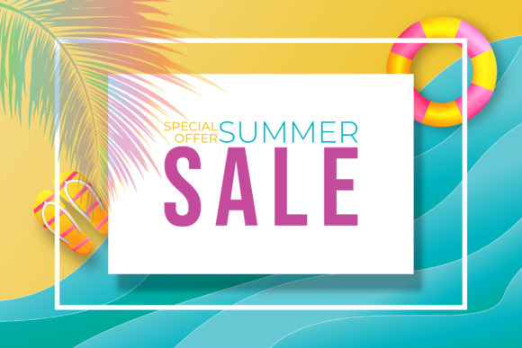 Summer Sale Banner Design Template. Graphic Graphic Templates By ngabeivector