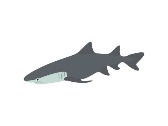 Download Free White Shark Fish Animal Graphic By Archshape Creative Fabrica for Cricut Explore, Silhouette and other cutting machines.