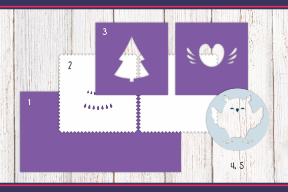 Download Free 3d Layered Christmas Cards Bundle Graphic By Olga Belova for Cricut Explore, Silhouette and other cutting machines.