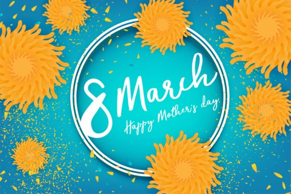 Download Free 8 March Happy Women S Day Yellow Flowers Graphic By Kapitosh for Cricut Explore, Silhouette and other cutting machines.